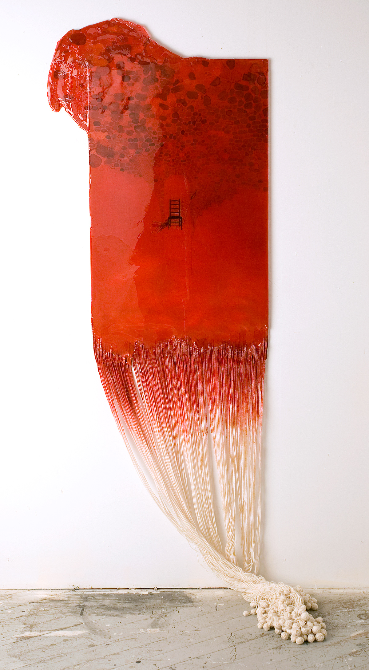 Citadel  Board, paper, yarn, epoxy resin, 2012